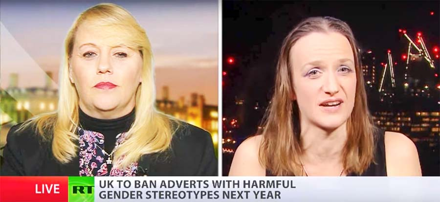 "Toni Bugle vs Kate Smurthwaite: UK to ban ""harmful"" gender ""stereotypes"" in adverts"